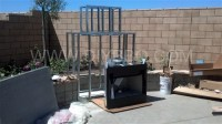 DIY BBQ Outdoor Fireplace Frame kit