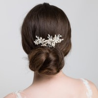 wedding hair slides pearl wedding hair comb elaine side ...