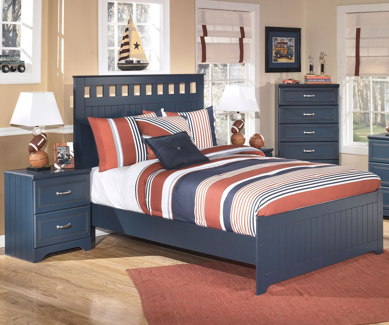 Leo B103 Full Size Panel Bed Ashley Kids Furniture