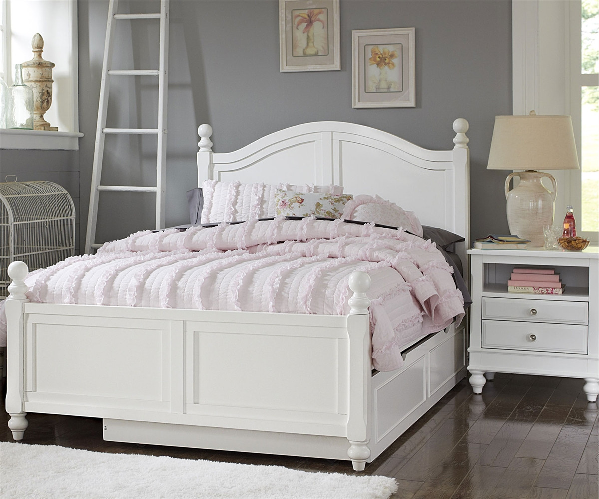 White Trundle Bed 1015 And 1570 Payton Full Bed White Finish With Trundle