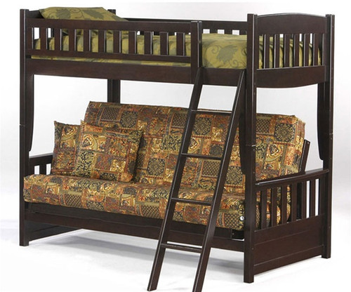 Night And Day Spice Cinnamon Twin Over Futon Bunk Bed In