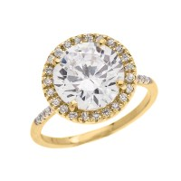 Dainty Engagement and Proposal Diamond Yellow Gold Ring ...