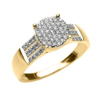 Gold Diamond Orbit Ring | Orbit Rings | Diamond Rings