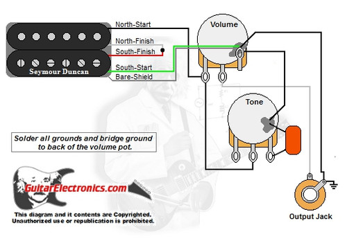 guitar wiring diagram two humbuckers 1 volume 1 tone