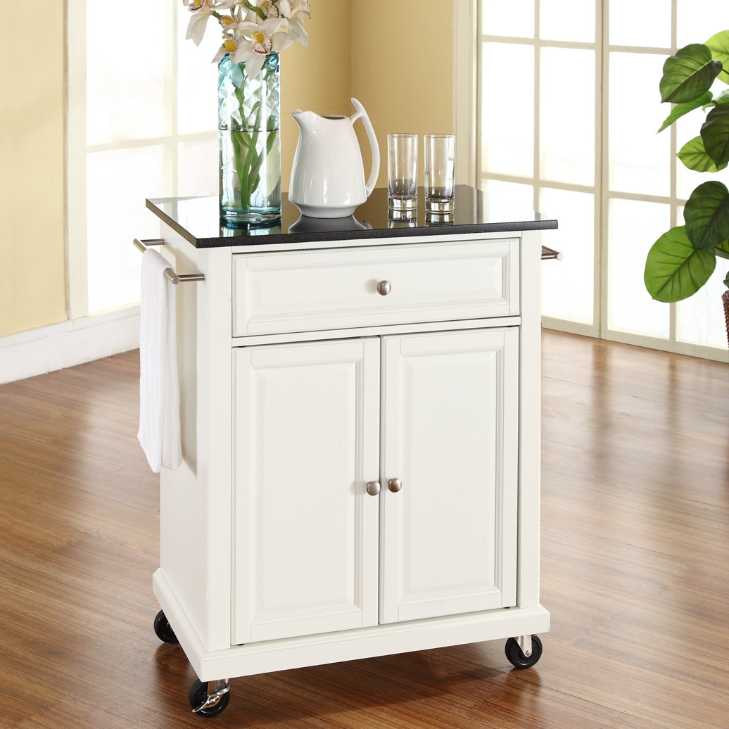 Kitchen Island With Locking Casters White Kitchen Cart With Granite Top And Locking Casters Wheels