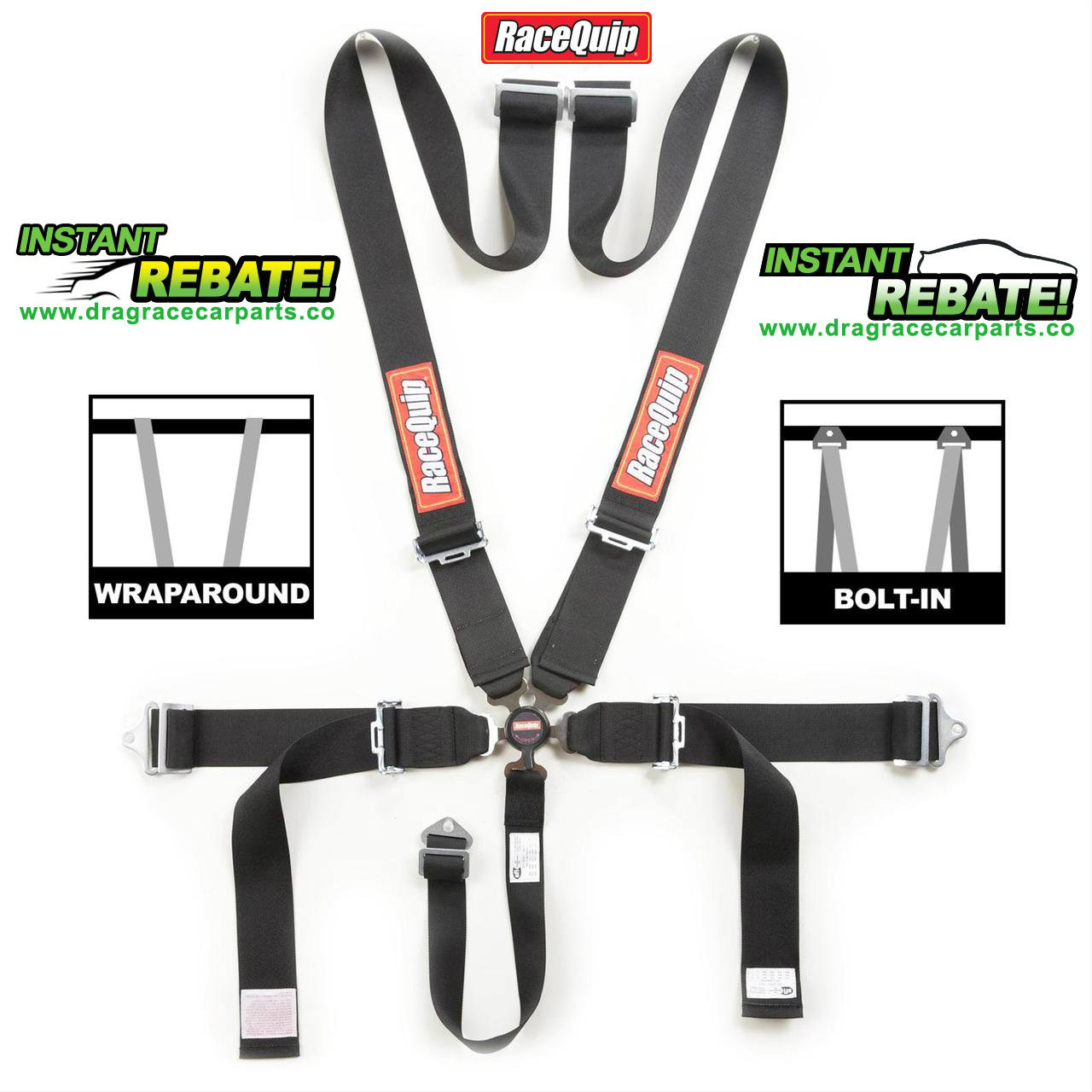 Safety Belt Racequip Sfi 16 1 Camlock Black 5 Point Seat Belt Safety Harness 741001