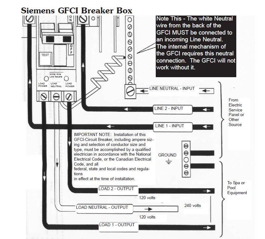 110 Block Enclosure Wiring Diagram Hot Tub Electrical Installation Hookup Gfci