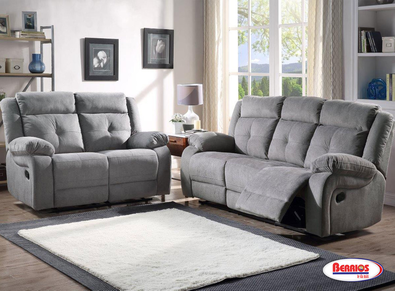 Muebles Ashley En Berrios 12623 Grey Abi Recliner Living Room - Berrios Te Da Más