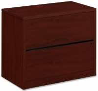 HON 2 Drawer File Cabinet with Mahogany or Oak Finish [10563]