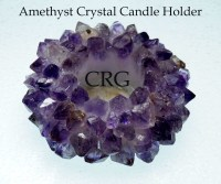"4"" Amethyst Crown Point TeaLight Candle Holder (CAN9 ..."