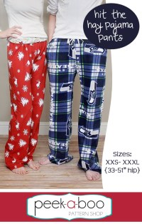 Hit the Hay Pajama Pants Sewing Pattern | Peek-a-Boo ...