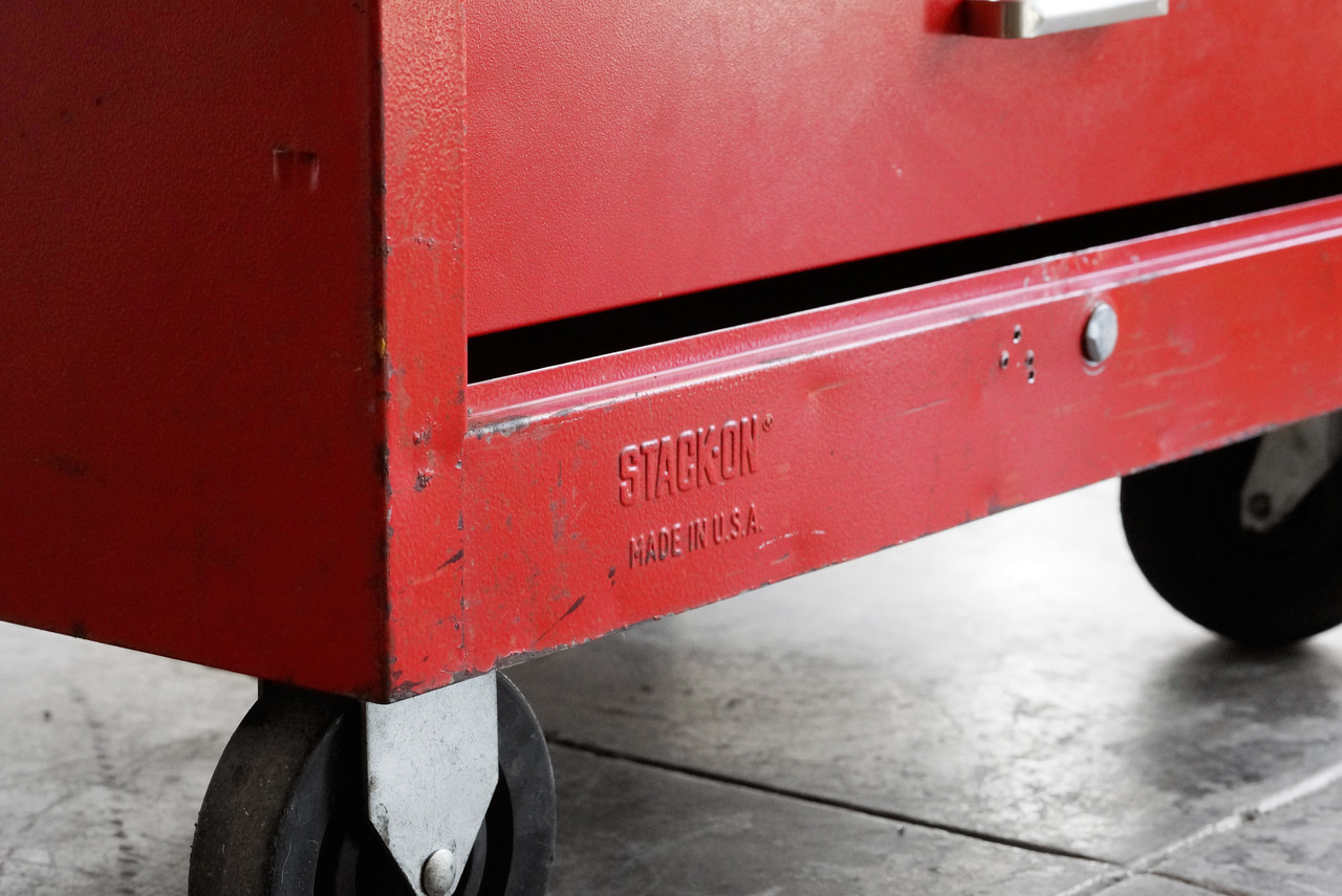 SaveEnlarge · 2 Tool Boxes Husky On Wheels And Stack On & Stack On Tool Storage - Listitdallas