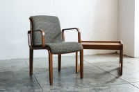 SOLD - Knoll Arm Chair with Bent Wood Arms, Classic ...