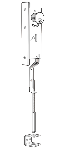 electronic key operated security door
