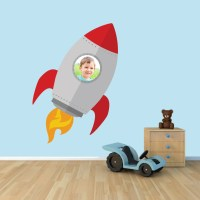 Custom Spaceship Photo Wall Decals Home Decor Stickers