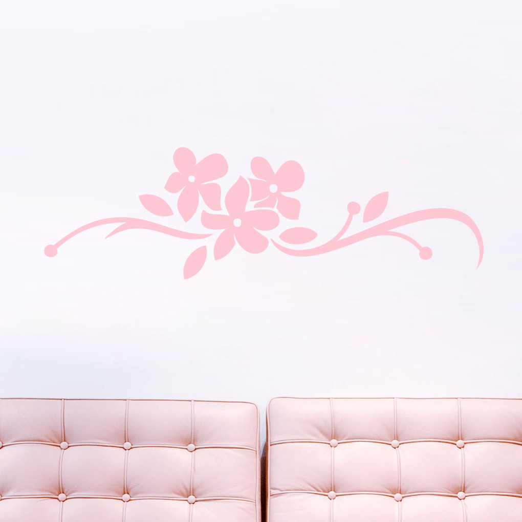 Orchid Flourish Wall Decals Home Dcor Wall Decals