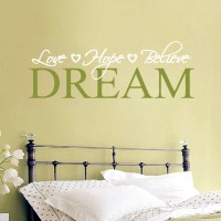 Love Hope Believe Dream Wall Decals Home Dcor Wall Decals