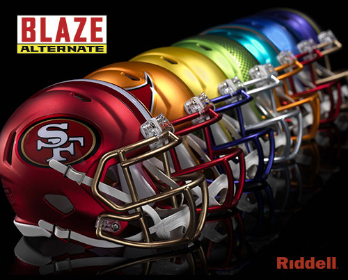 nfl team set of 32 blaze alternate speed riddell mini