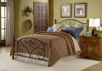 Fashion Bed Group Doral Panel Bed in Matte Black and ...