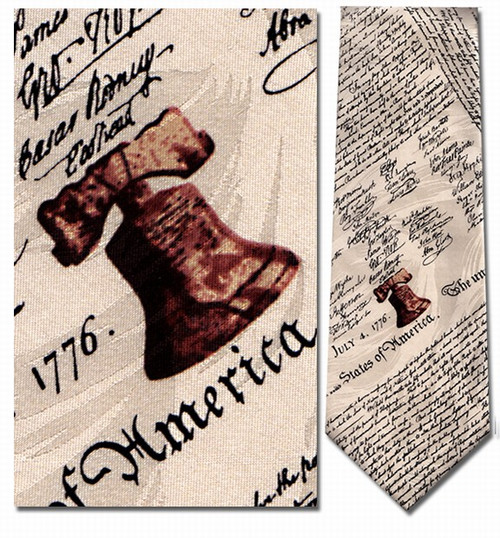 Declaration of Independence Necktie : Museum Shop Tie