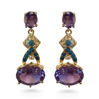 Post Amethyst Earrings - Museum Shop Collection