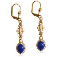 Elizabethan Lapis Lazuli Earring - Museum Shop Collection