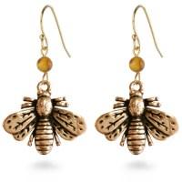 Napoleonic Bee Drop Earrings - Museum Shop Collection