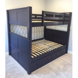 Impressive Under Bed Drawers Dillon Full Over Full Bunk Bed Trundle Bedroom Set Full Bed Under Bed Trundle Full Size Bed Storage Trundle Navy Blue Finish Shown