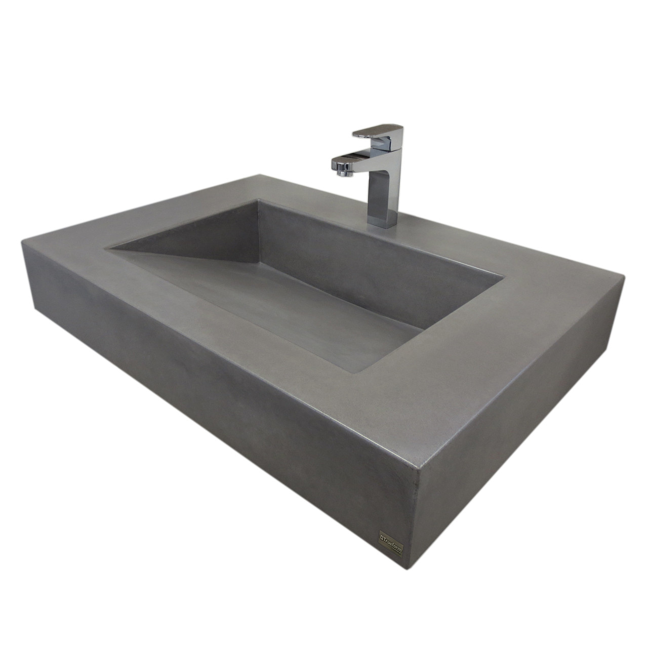 30 Floating Bathroom Vanity 30 Quot Floating Ada Concrete Bathroom Sink Trueform