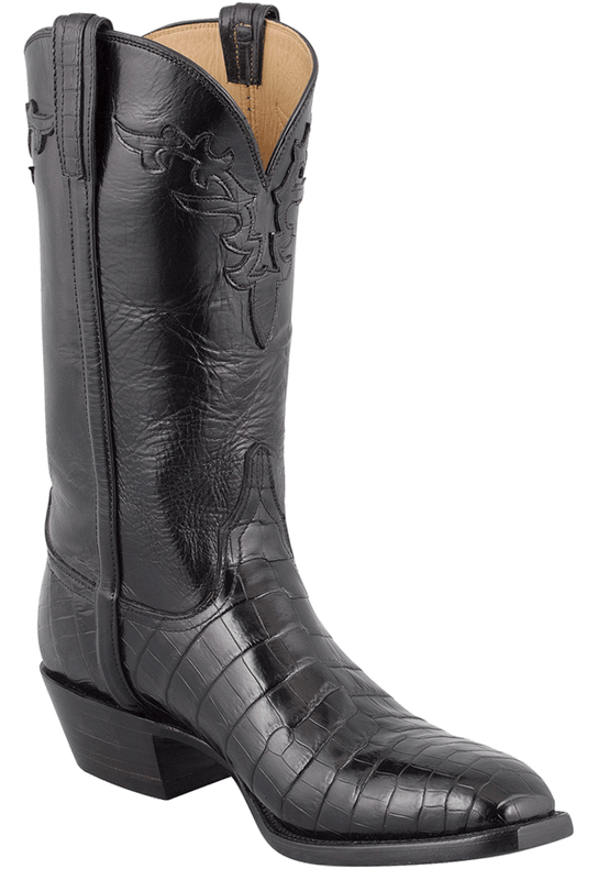 Men39s Black Lucchese Crocodile Boots Shop Lucchese