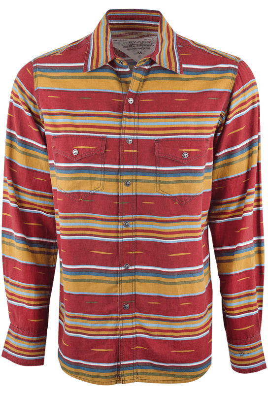 Bulk Snap Jewelry Ryan Michael Serape Western Shirt Brick Pinto Ranch