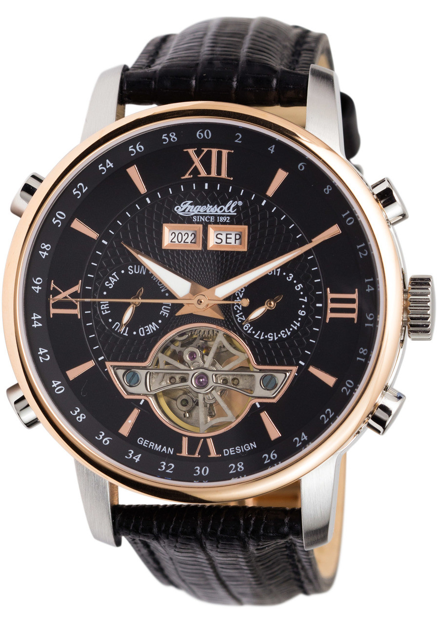 Ingersoll Automatik Ingersoll In4503rbk Grand Canyon Automatic Black | Watches.com
