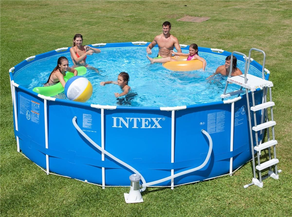 Achat Piscine Intex Piscine Intex Metal Frame 4 57x1 22 Cash Piscines
