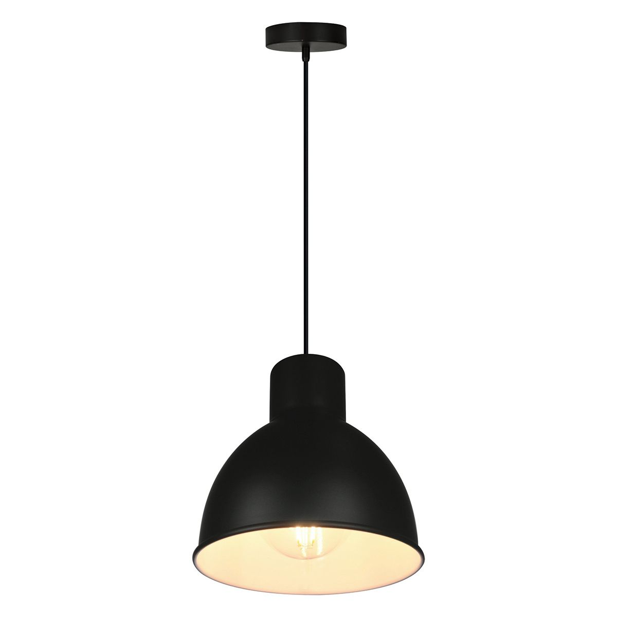 Suspension Noir Metal Suspension Cloche En Métal Noir Melga Inspire Decoclico