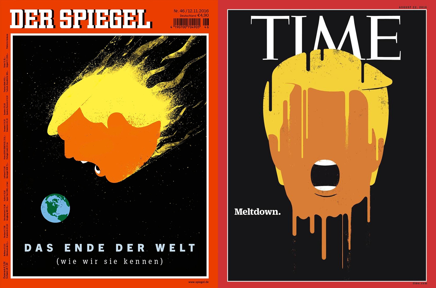 Spirgel Online The Magazine Cover Art Of Donald Trump Causing Headlines
