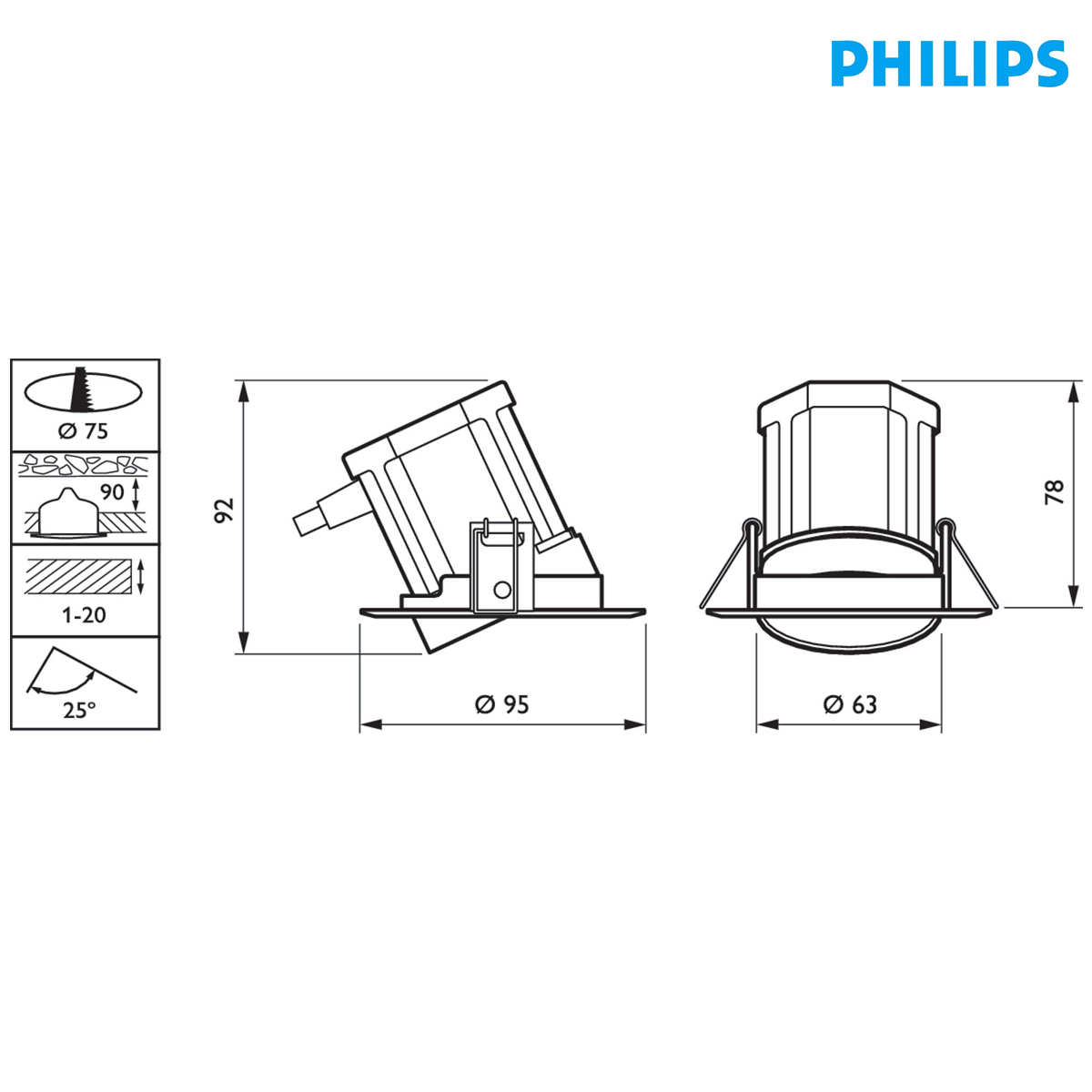 Spot Led Exterieur Philips Spot Encastré à Led Philips Rs011b Led8 40 830 Psr Wh