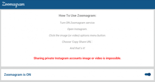 Foto zoom Instagram