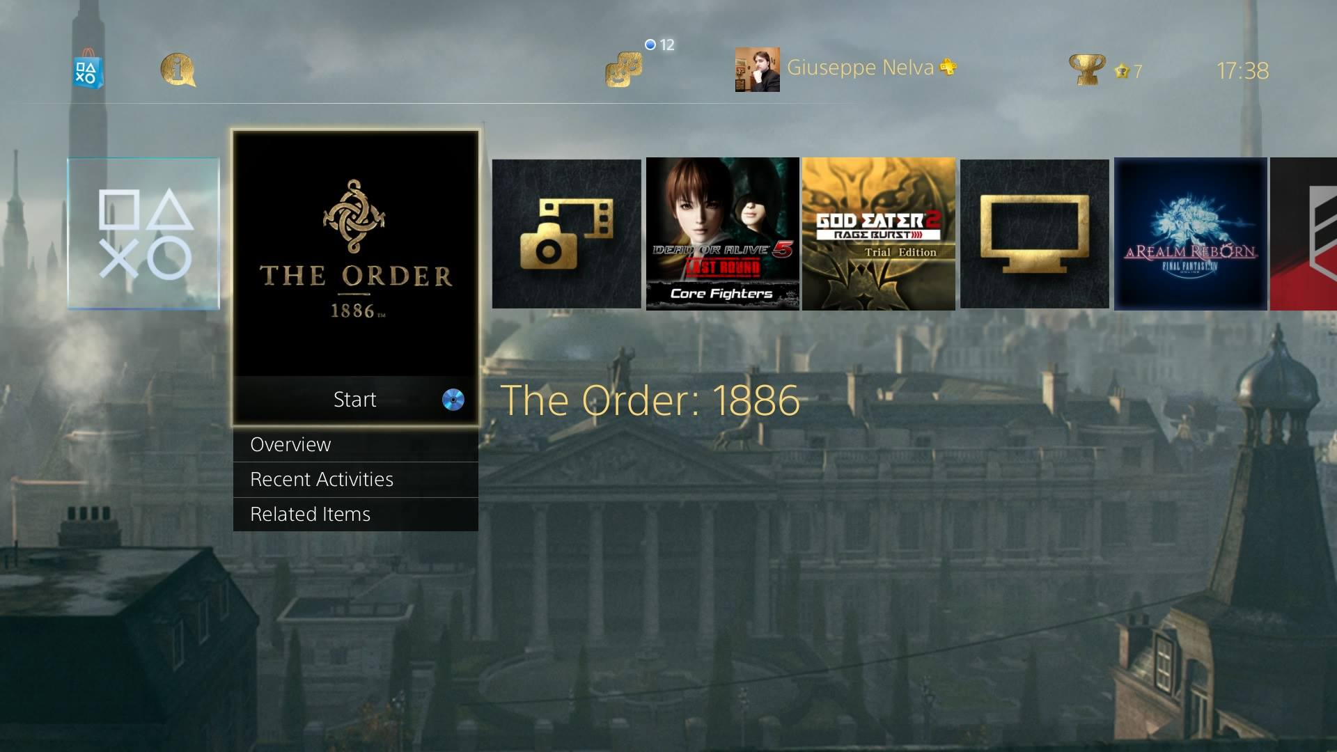 Ps3 Animated Wallpaper The Order 1886 Free Ps4 Dynamic Theme From Promo Website