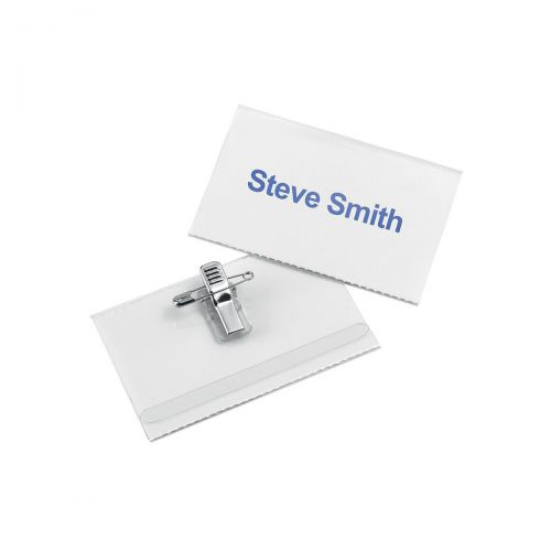 5 Star Office Name Badge with Combi-Clip 54x90mm Pack 50