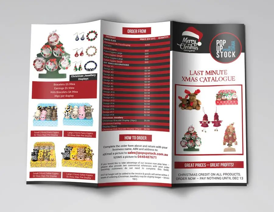 Entry #3 by cfbutterfly for Create a Christmas Themed Tri-Fold - create tri fold brochure