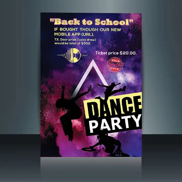 Entry #13 by sawon123azom for flyer design for a dance party