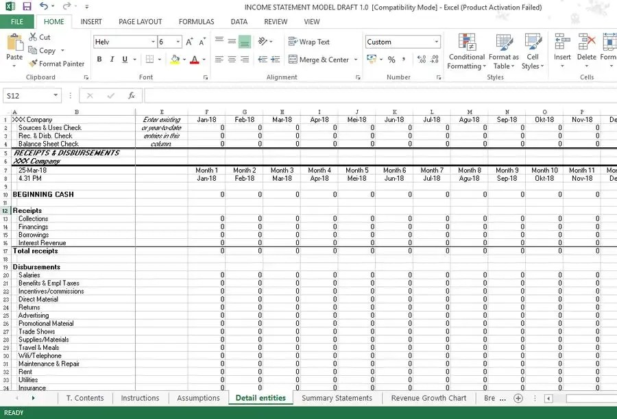 Entry #1 by istifaninisha for Income Statement Modeling  Forecast