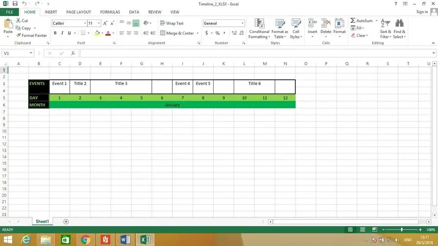 Entry #3 by mhristov35 for Supply a Working Template - Timeline in - template timeline excel