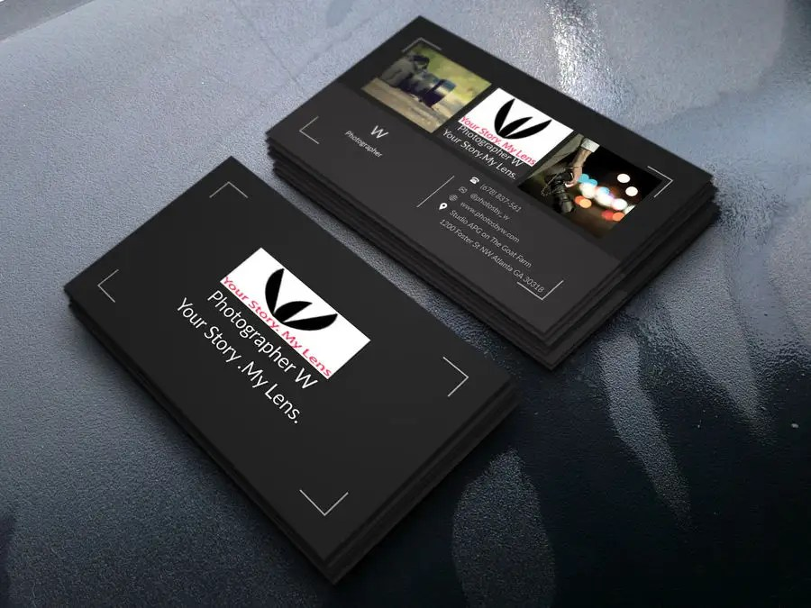 Entry #84 by ashik1012 for Photographer Business Card Design