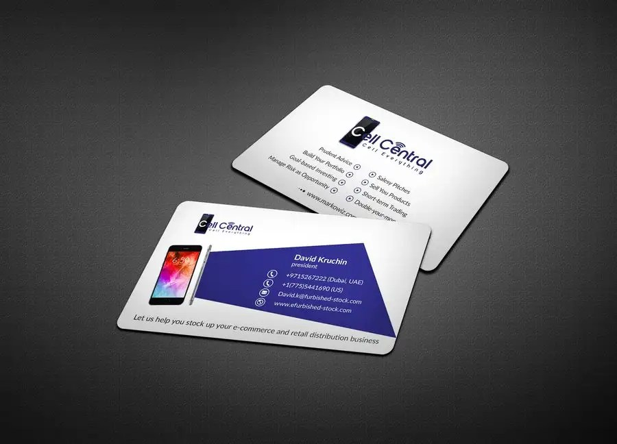 Entry #71 by paul7482 for Need business cards template for mobile