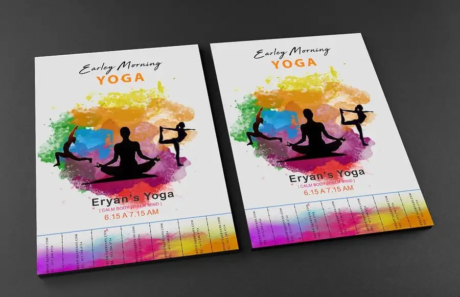 Entry #3 by sufwanmehmood for Series of 4 Flyers selling YOGA