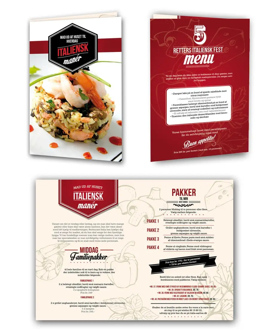 Italian Take Away Menu Entry 23 By Felipedesign508 For Take Away Menu For Italian