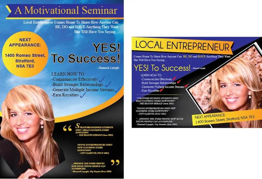 Entry #21 by GreenworksInc for Design a Flyer for a motivational - seminar flyer