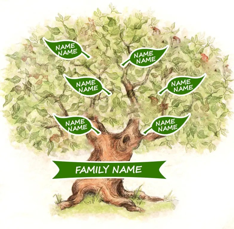 Entry #1 by mihainovac for Family Tree Background and Name Plate
