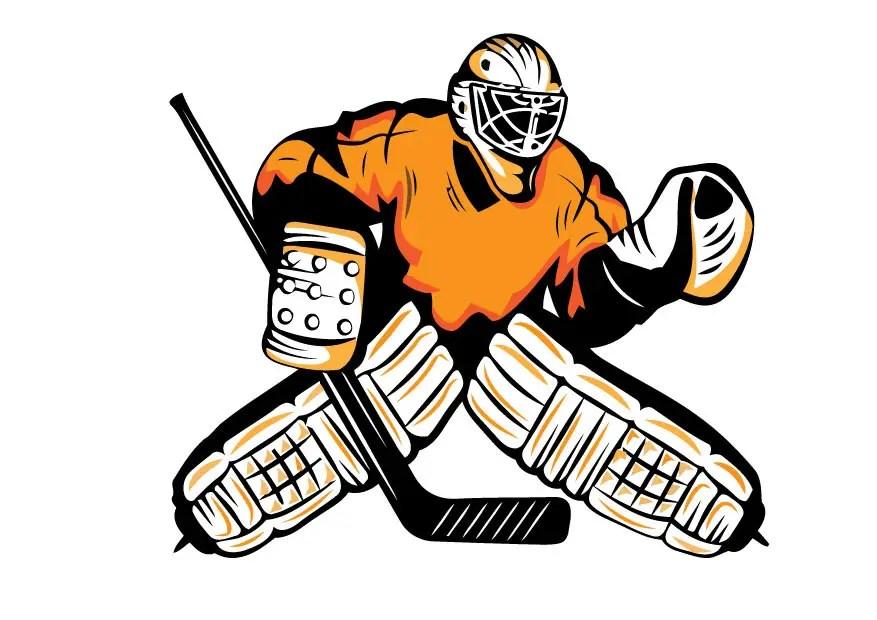 Vector of u0027Ice hockey players Vector illustrationu0027 on Colourbox - hockey templates free